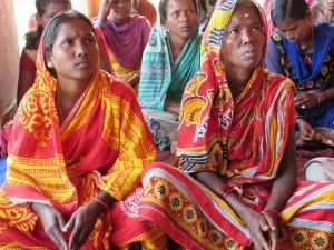 Tribal women receiving health training